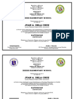Templates for Certificate of Completion and Diploma for Graduation in Compliance With DepEd Order No 12 s 2018