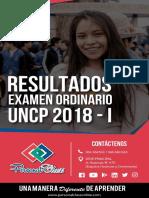 Resultados Admisión UNCP 2018-I