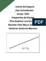 Geometria Del Espacio Rectas Coincidentes