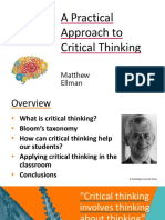 A Practical Approach to Critical Thinking
