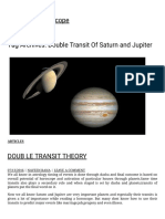 Double Transit of Saturn and Jupiter