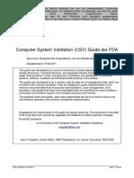 FDA Guideline CSV