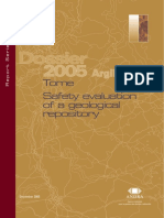 Dossier 2005 Argile - Tome Safety evaluation of a geological repository