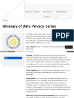 Glossary of Data Privacy Terms
