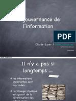 La gouvernance de l'information en quelques slides