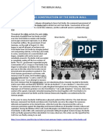 Berlin Wall - Student Activity Sheet