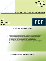 Business Letters and Reports