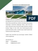 Jasa Gambar Bangunan | Desain Bangunan |  Arsitek | Interior | GedungBantenTangerangJawa