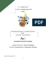Bando 2017 Il Piccolo Violino Magico Competition Eng