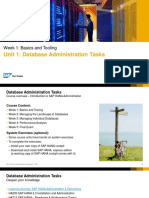 All SLIDES Hana Administration