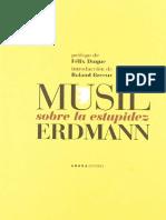 R. Musil   Erdman - Sobre la Estupidez  Prologos - F.Duque y f82d04bff03