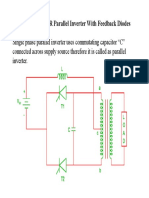 Parallel Capacitor Inverter With Feedback Diodes