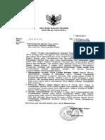 surat menteri 17