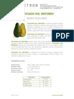 Avocado Oil Refined Tx008222 Pds