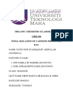 Organic Chemistry II Laboratory Experiment 3