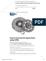 How to Account for Spare Parts Under IFRS – IFRSbox – Making IFRS Easy