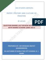 Last Review Notes Pakistan Studies 2059