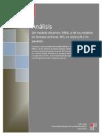 Reporte Modelos (MRA) y (RLC Serie y Paralelo)