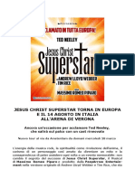 Jesus Christ Superstar Tour Europeo 2018 e Arena Di Verona 14 Agosto