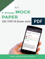 SSC CPO Final Paper