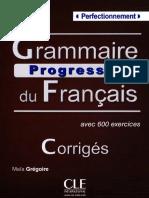 Corrigés Grammaire progressive Perfectionnement frenchpdf.com.pdf