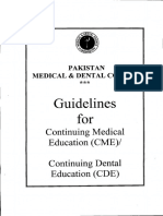 PMDC guidelines for CME.pdf