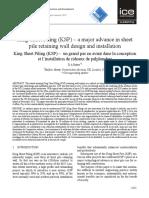 King Sheet Pile_ICE Paper