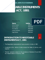 Negotiable Instruments Act,1881