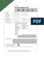 Work Order Request Form