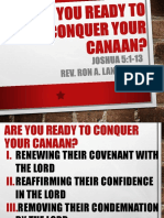 Are You Ready to Conquer Your Canaan