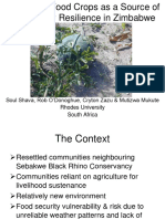 Traditional Food Crops as a Source of Community Resilience