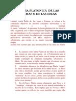 Teoria Platonica de Las Formas o de Las Ideas