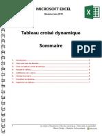 Microsoft Excel - Tableau Croisé Dynamique