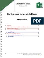 Microsoft Excel - Mettre Sous Forme de Tableau