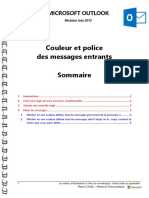 Microsoft Outlook - Couleur Et Police Des Messages Entrants