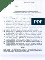 Pages de Garde Resultats Cfsiad Session 2016
