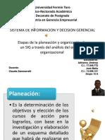 Etapas de La Planeación y Organización de Un SIG a Través Del Análisis Del Entorno Organizacional
