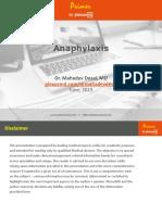 1. Anaphylaxis - Primer by PlexusMD - Dr. Mahadev Desai