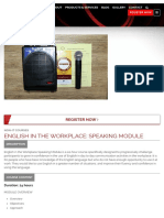 English in the Workplace - Speaking Module