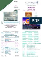 Grace Church Highlands Summer Term Card 2018