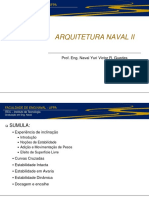 Arquitetura Naval II - Aulas