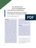 Sustratos y Producción de Biogas en Biodigestores
