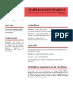 Felipe Acioli - Curriculum Vitae