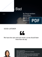 Good vs bad listener