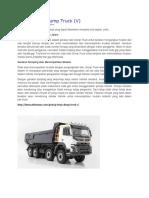 Prinsip Kerja Dump Truck