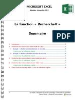 Microsoft Excel - La Fonction « RechercheV »