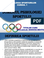 Domeniul Psihologiei Sportului