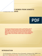 Protection of Women From Domestic Violence Act 2005