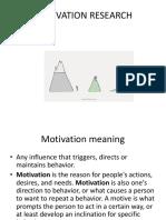 Motivation Research