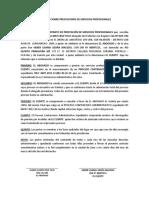 Contrato Sobre Prestaciones de Servicios Profesionales